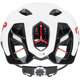 UVEX Race 9 Helmet, blanco/rojo